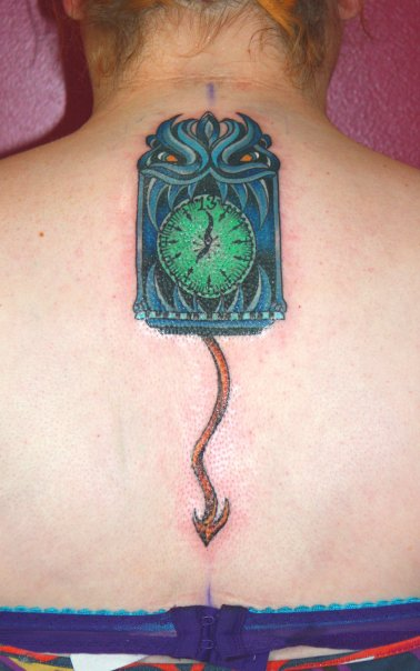 Haunted_Mansion_Tattoo_13th Hour Clock Disney