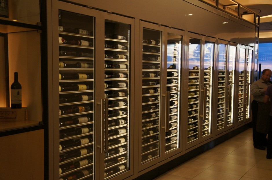 Disney New California Grill 2013 Re-Opening Restaurant Signature Dining Wine Wall