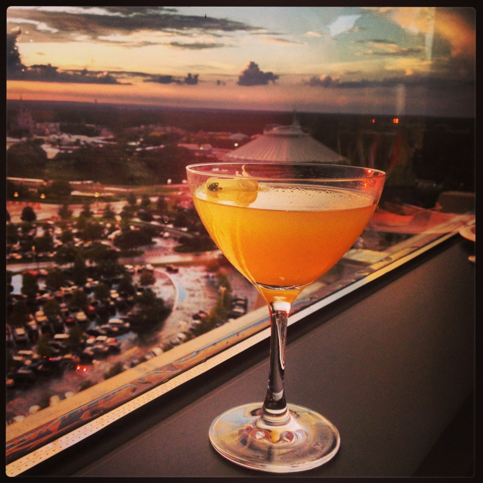 Disney New California Grill 2013 Re-Opening Restaurant Signature Dining Sake Martini
