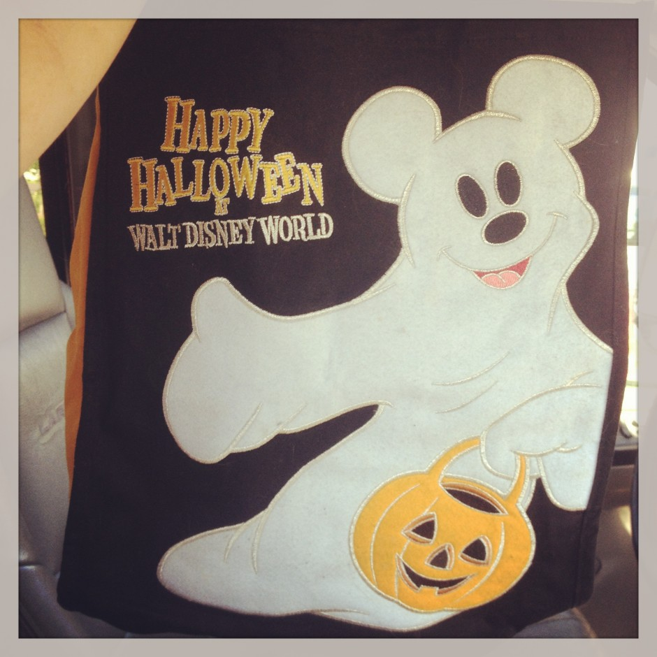 Happy Halloween Walt Disney world mickey ghost bag