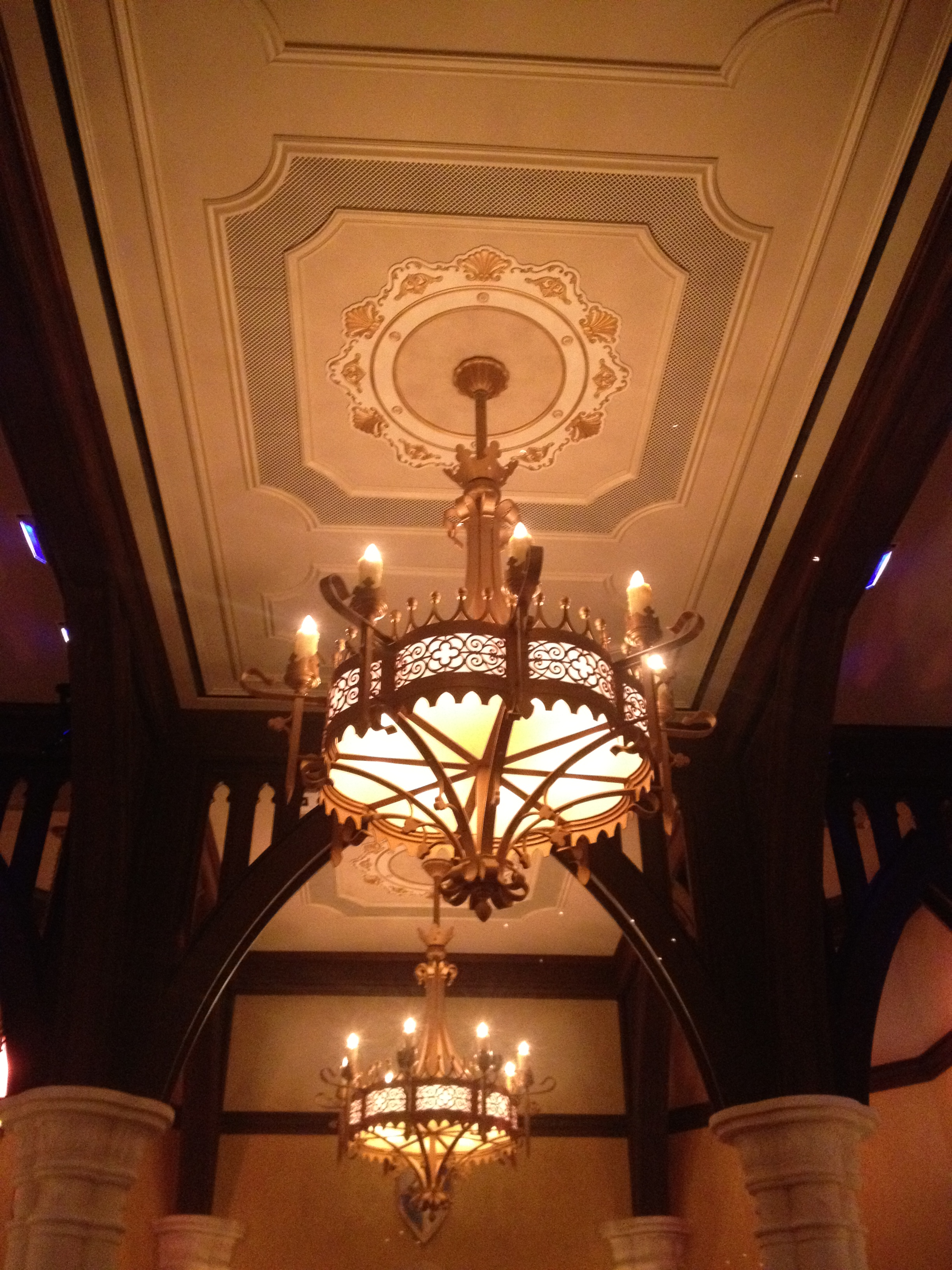 A detailed look around the all new disney princess fairytale hall disney princess fairytale hall magic kingdom ceiling light mozeypictures Gallery