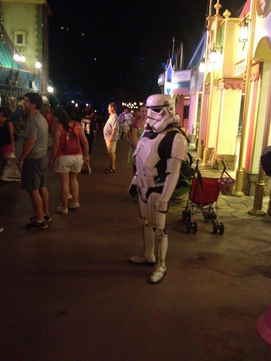 2013 Mickey's not so scary halloween party magic kingdom fantasyland stormtrooper