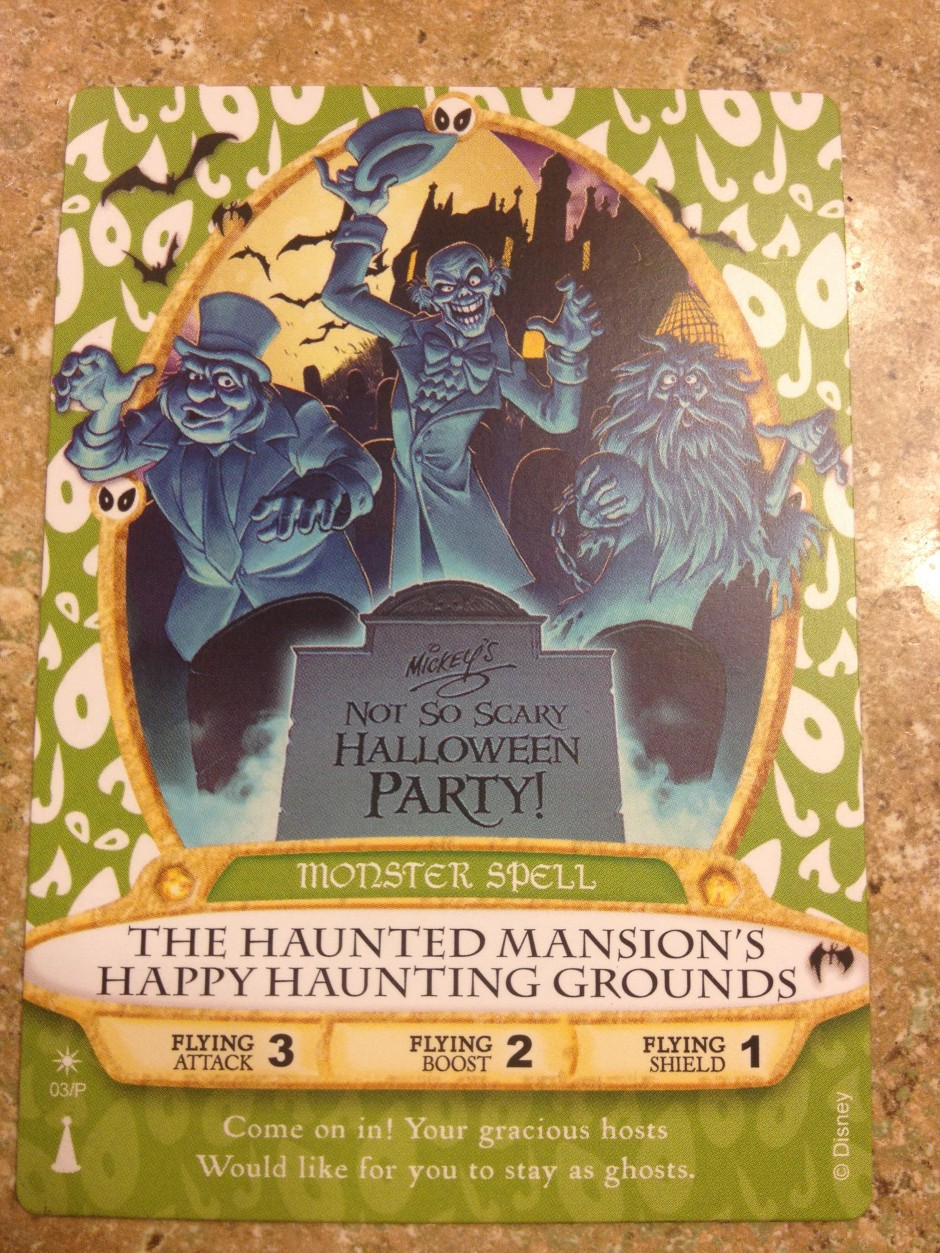 2013 Mickey's not so scary halloween party magic kingdom sorcerers card hitchhiking ghosts