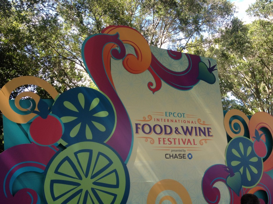 2013 Epcot International Food and Wine Festival signage