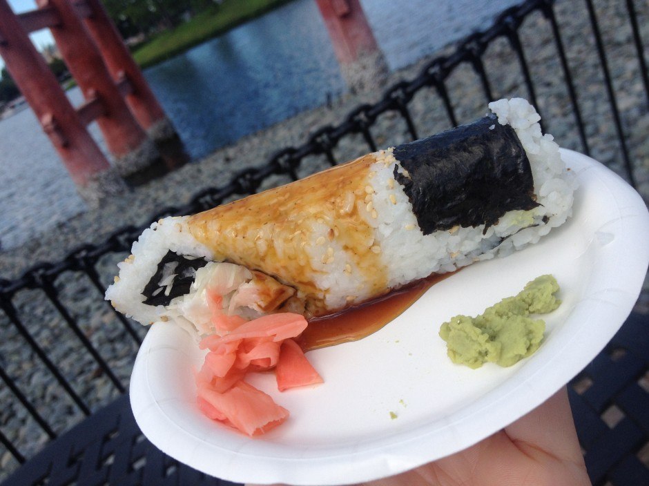 2013 Epcot International Food and Wine Festival Japan Teriyaki chicken hand roll