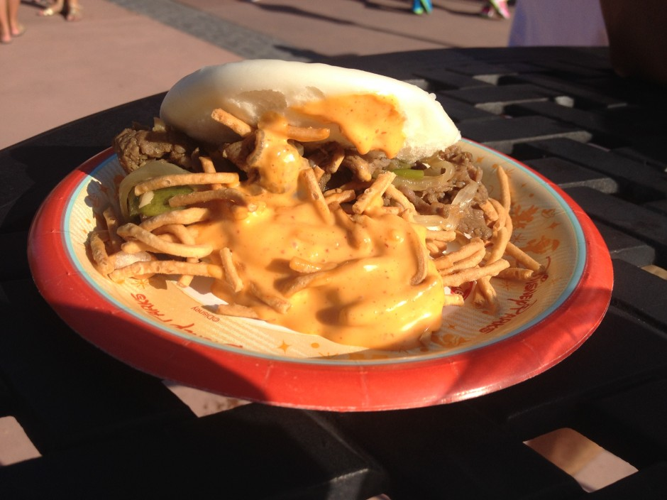 2013 Epcot International Food and Wine Festival china mongolian beef in a steamed bun