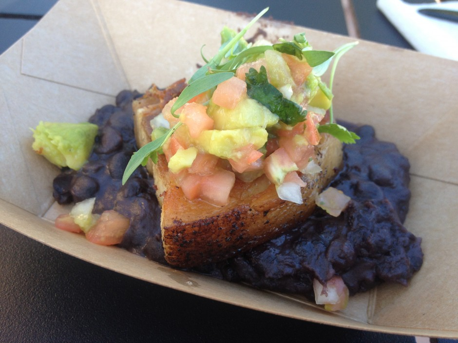 2013 Epcot International Food and Wine Festival Brazil Pork Belly with Black Beans