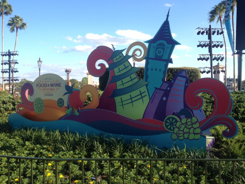 2013 Epcot International Food and Wine Festival Sign