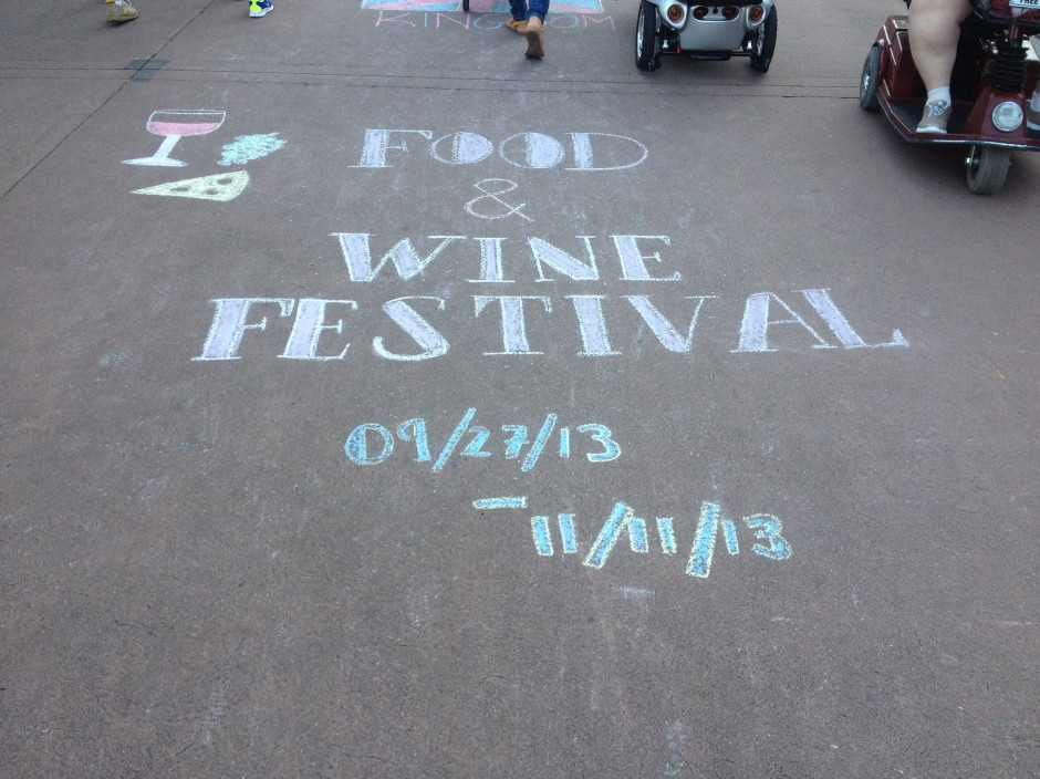 Epcot UK Chalk Art Walt Disney World 2013 Food and Wine Festival