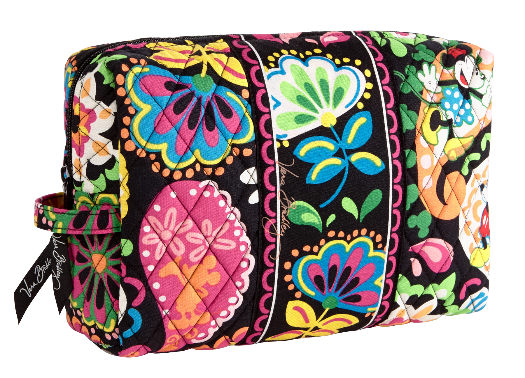 Disney Collection By Vera Bradley Midnight With Mickey Large Cosmetic Case Bag Disney Every Day