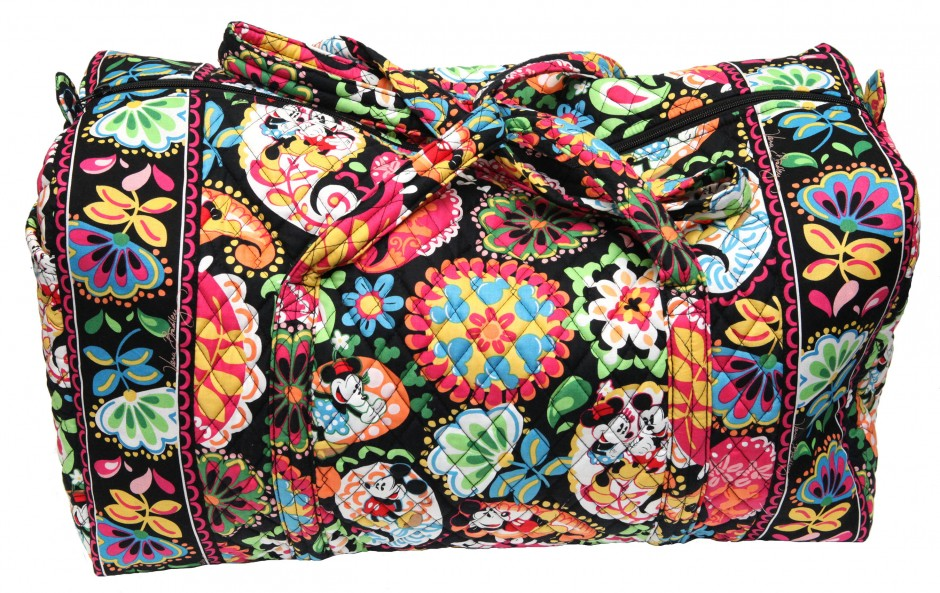 Disney Collection by Vera Bradley Midnight with Mickey Large Duffle bag purse