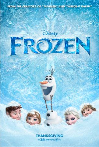 "New Movie Poster for Disney's ""Frozen"" Film Released"