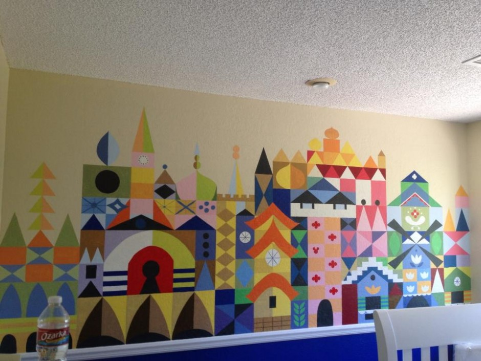 its a small world disney baby nursery wall art