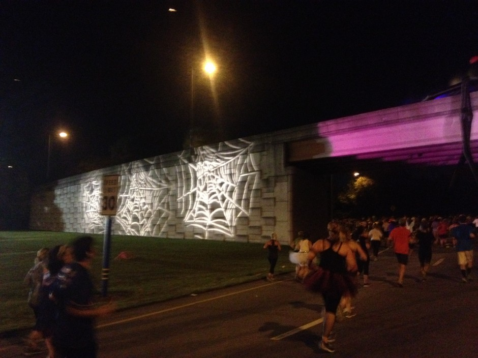 2013 runDisney tower of terror 10 miler disney race spider web