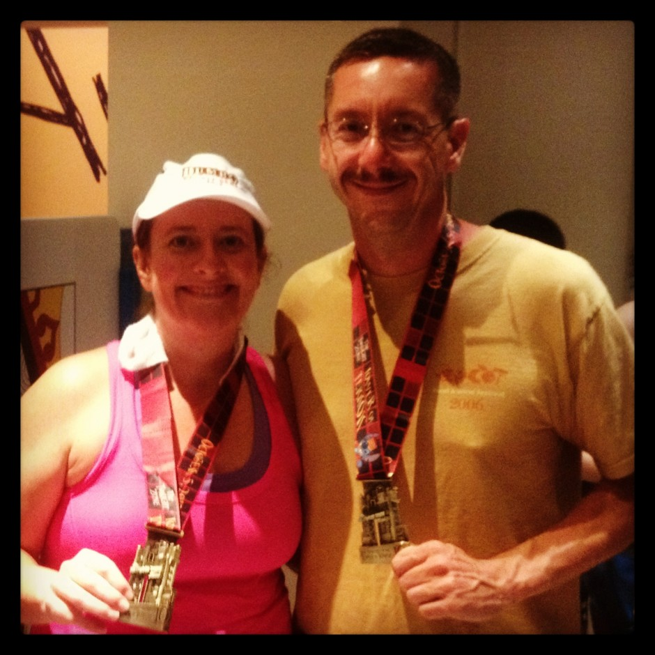 2013 runDisney tower of terror 10 miler disney race amanda tinney marc bigbie