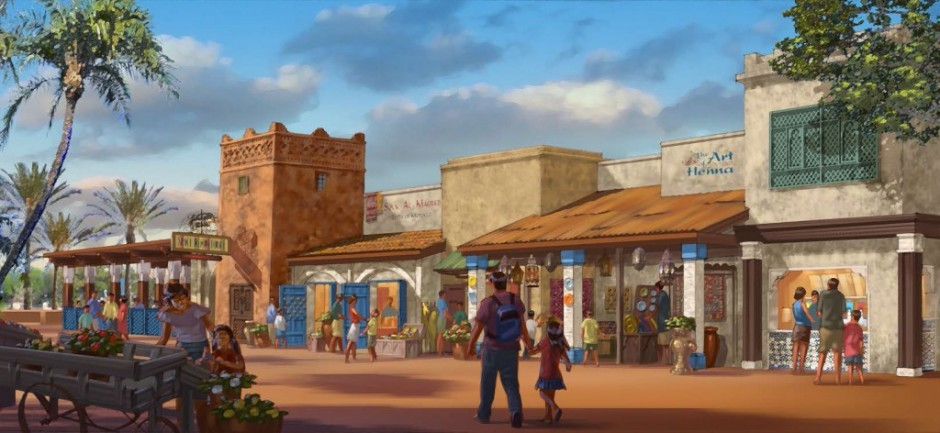 Concept Art for Disney's Newest Epcot Restaurant - Spice Road Table