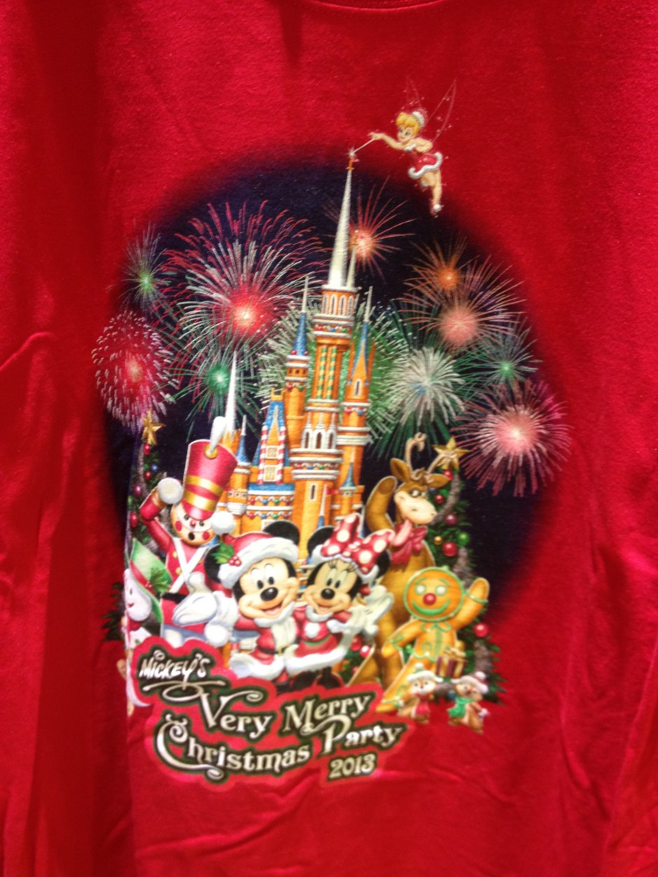 disney magic kingdom mickey's very merry christmas party shirt