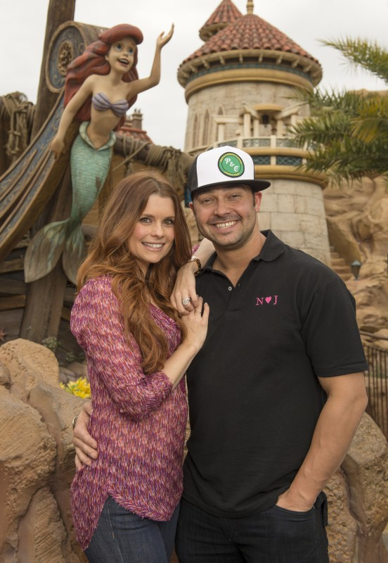 JoAnna Garcia Swisher and Cleveland Indians Star Nick Swisher Visit the Magic Kingdom
