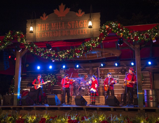 Off Kilter Performs as the Canadian Holiday Voyageurs at Epcot this Christmas