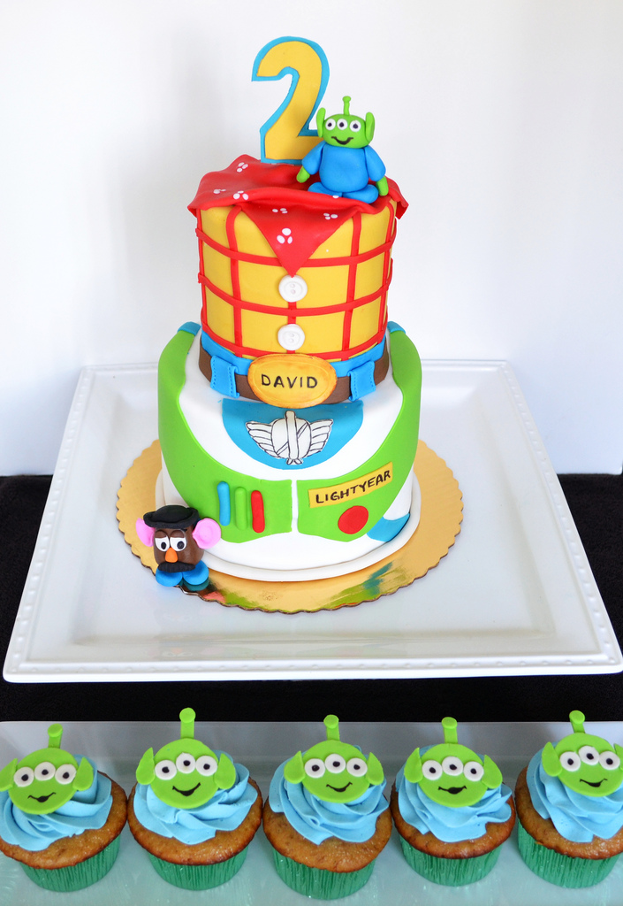 Disney Toy Story Birthday Party Dessert Table cupcakes cake