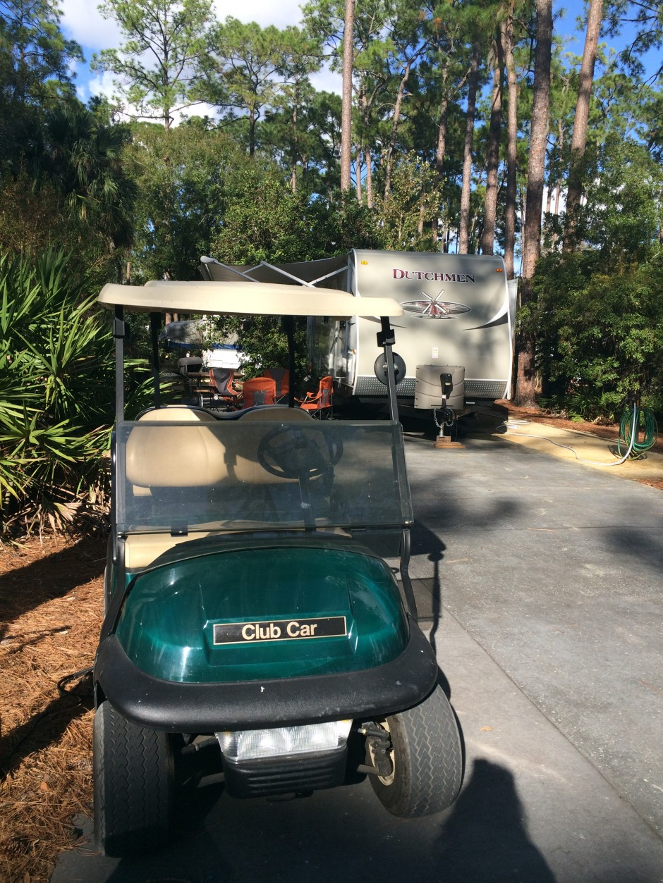 Meacham's RV Disney Fort Wilderness Resort Camper golf cart
