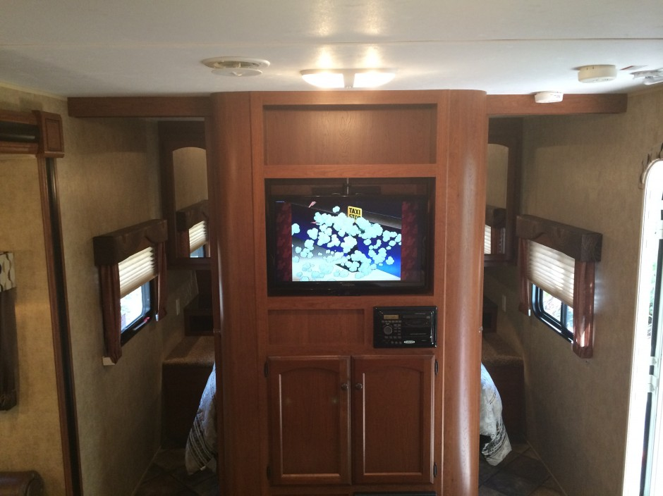 Meacham's RV Disney Fort Wilderness Resort Camper flat screen TV
