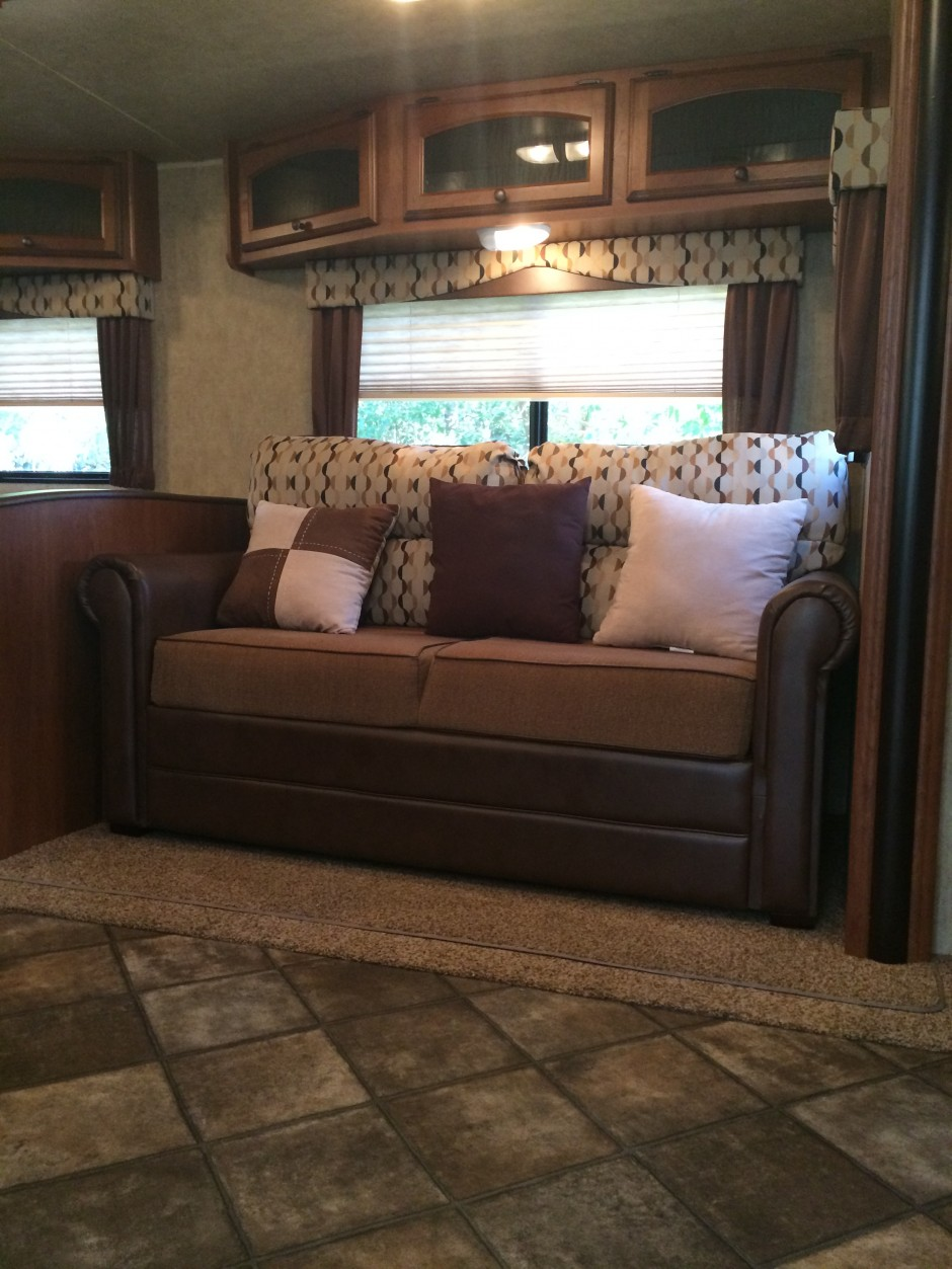 Meacham's RV Disney Fort Wilderness Resort Camper couch