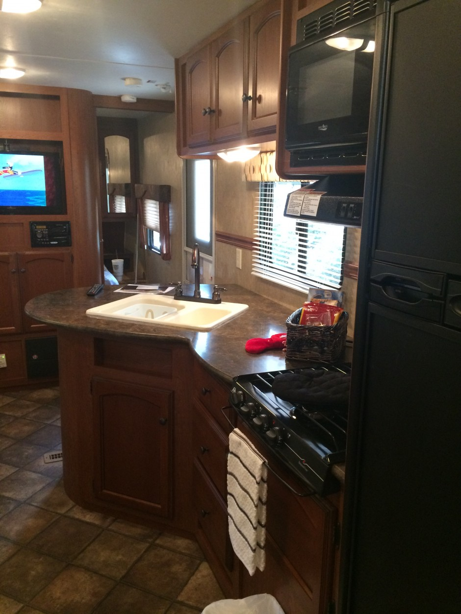 Meacham's RV Disney Fort Wilderness Resort Camper kitchen