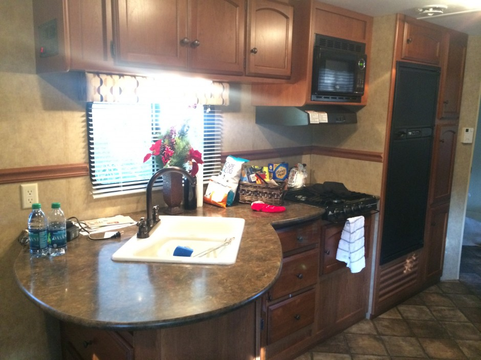 Meacham's RV Disney Fort Wilderness Resort Camper full kitchen