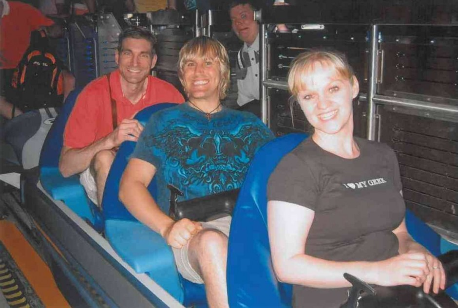 Disney Photobomb Space Mountain Cast Member