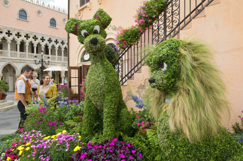 epcot flower and garden festival topiary lady tramp
