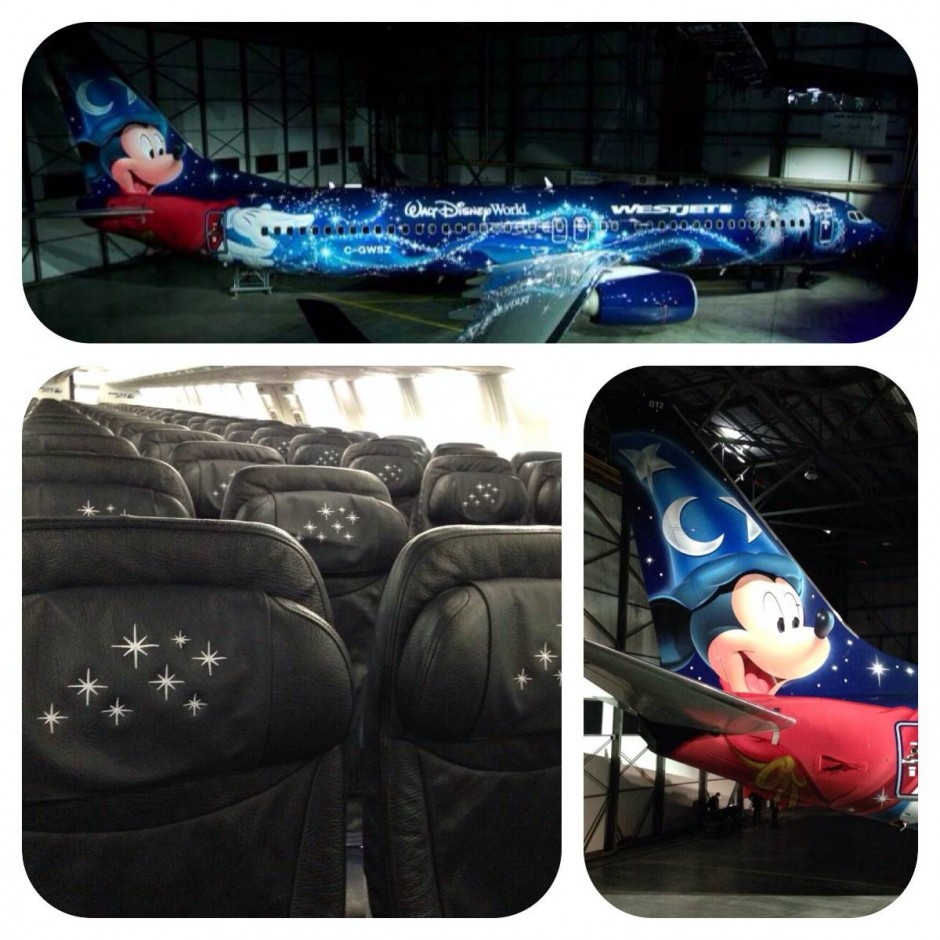 First Look at WestJet's Sorcerer Mickey Disney #MagicPlane