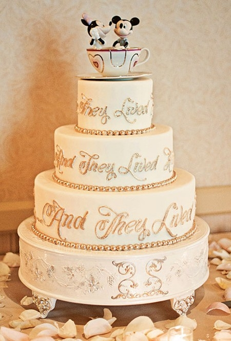 And They Lived Happily Ever After Disney Wedding Cake