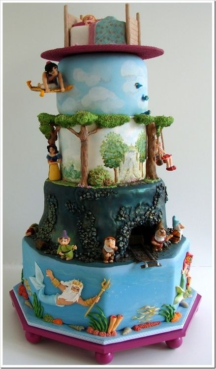 Epic Disney Movie Layer Cake