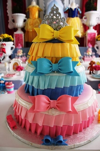 Fairy Tale Disney Princess Dress Cake