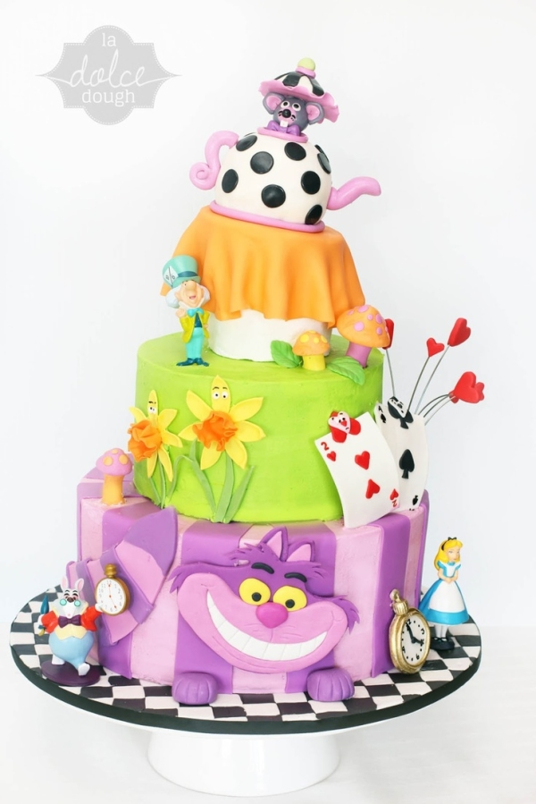 Whimsical Disney Alice in Wonderland Layer Cake
