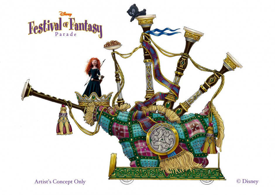 disney festival of fantasy Brave float