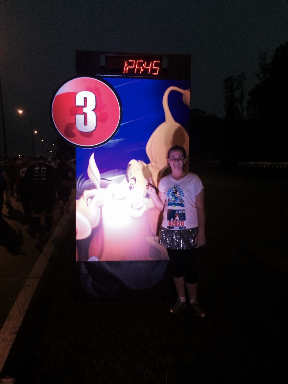 rundisney 2014 walt disney world 10k minnie race mile 3