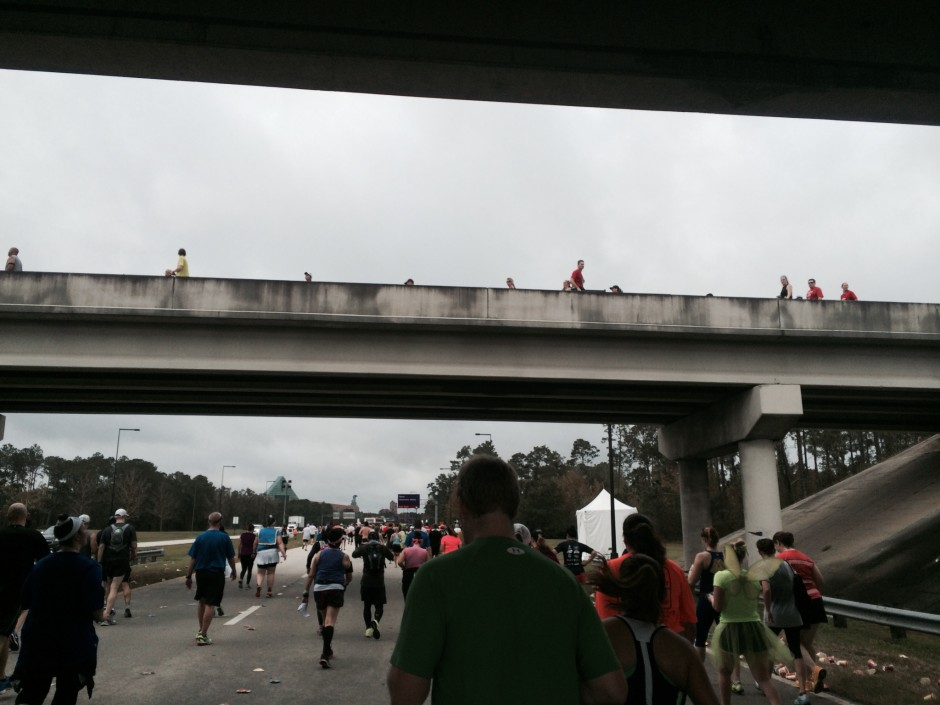 2014 rundisney dopey challenge walt disney world half marathon world drive overpass