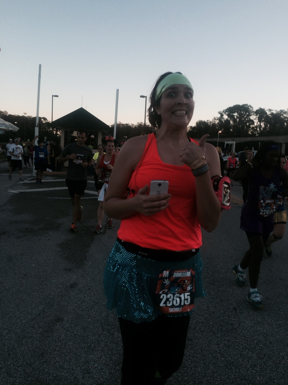 2014 runDisney walt disney world marathon magic kingdom nicole