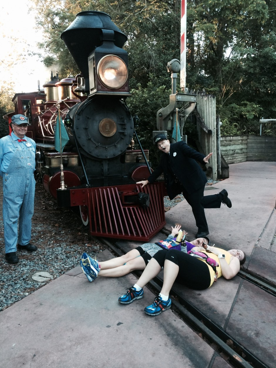 2014 runDisney walt disney world marathon magic kingdom train tracks amanda tinney ashley