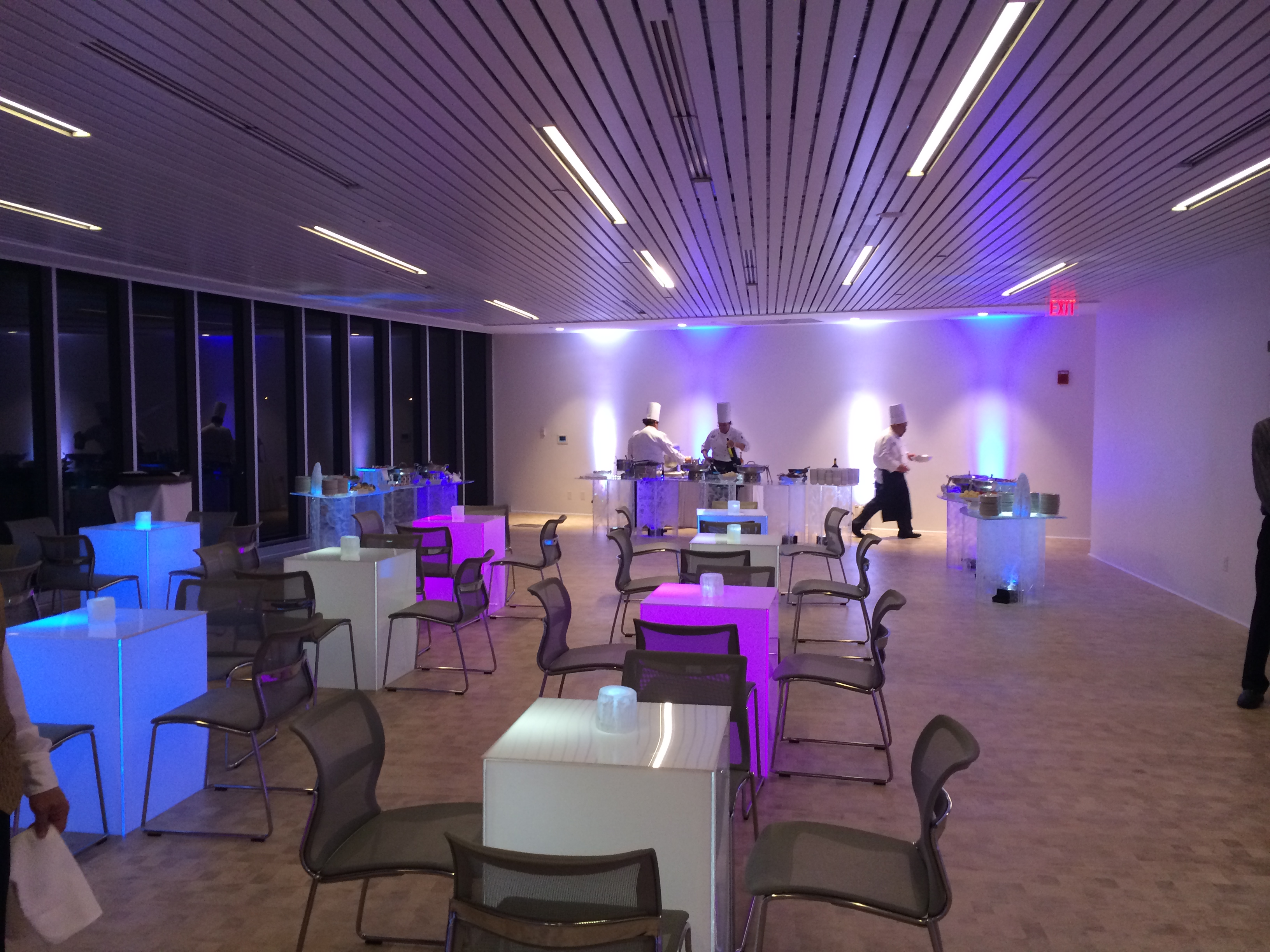 A Look Inside The Private Chevrolet Gm Vip Lounge Above
