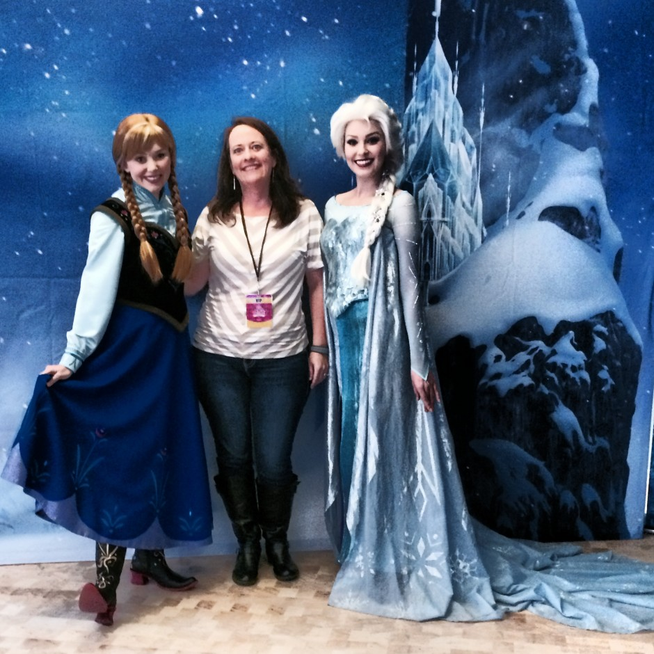 private test track VIP Lounge GM Epcot Chevrolet amanda tinney frozen characters