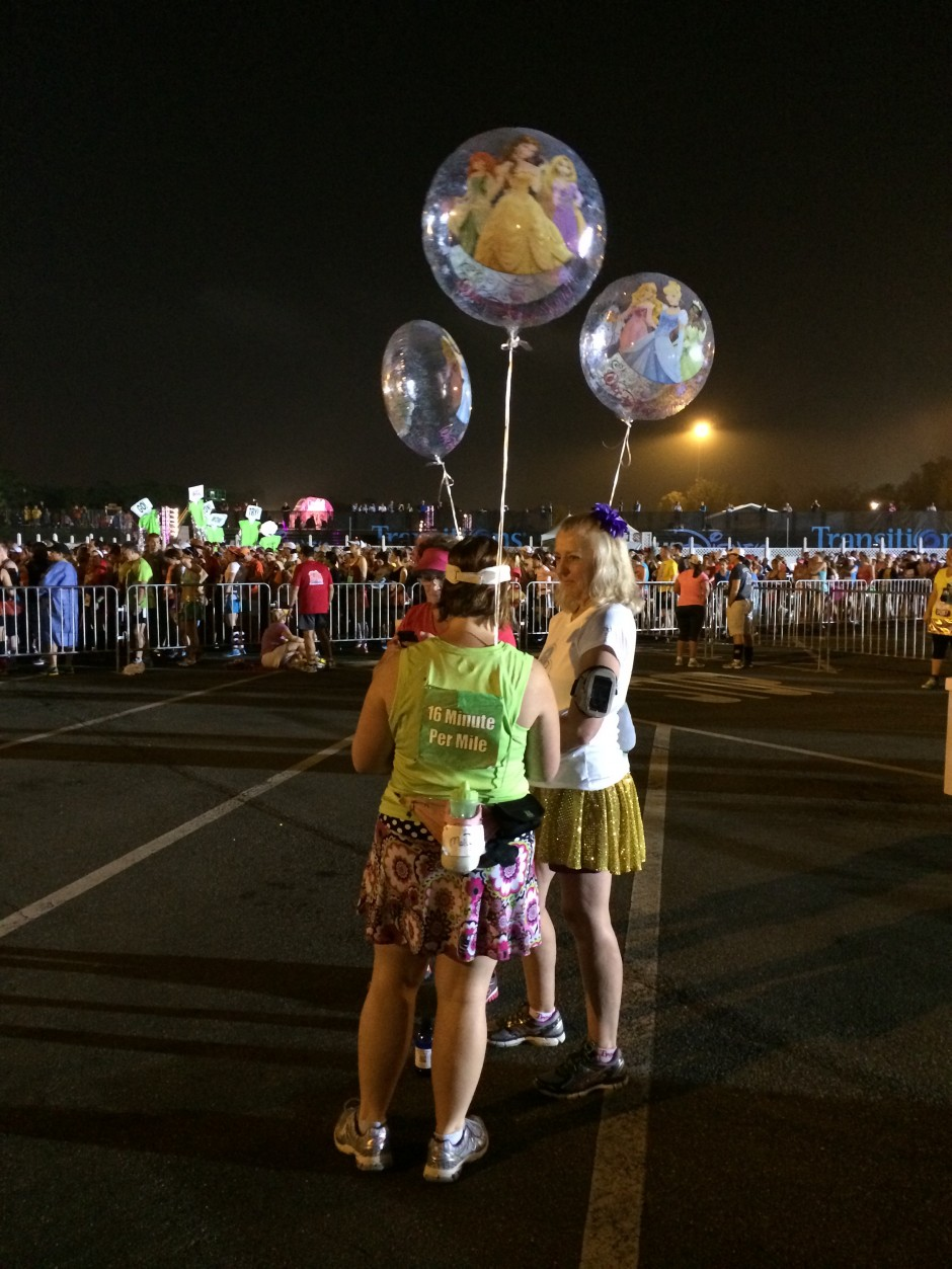 runDisney inaugural enchanted 10K 2014 disney balloon ladies lady