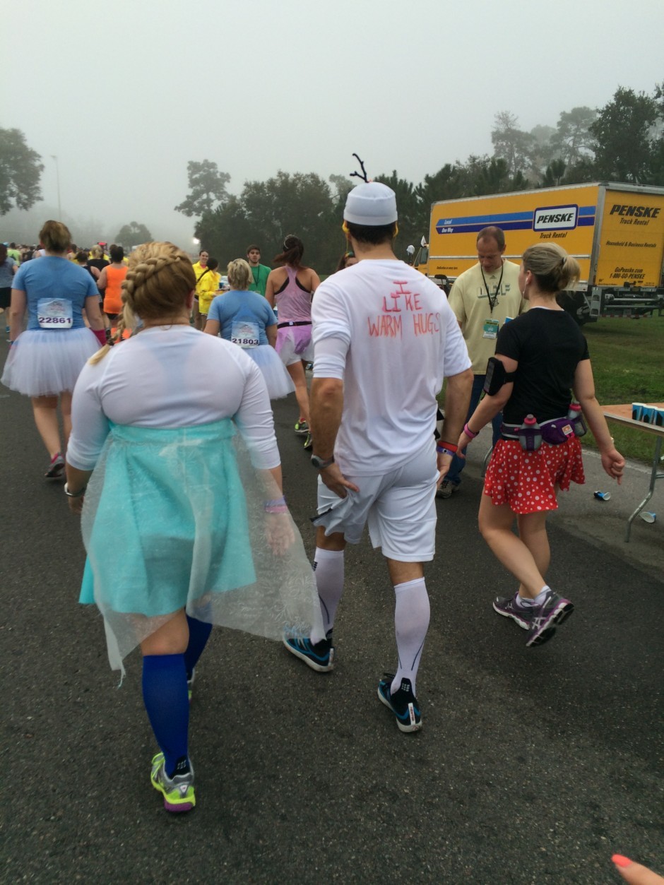 2014 rundisney glass slipper challenge disney princess half marathon olaf