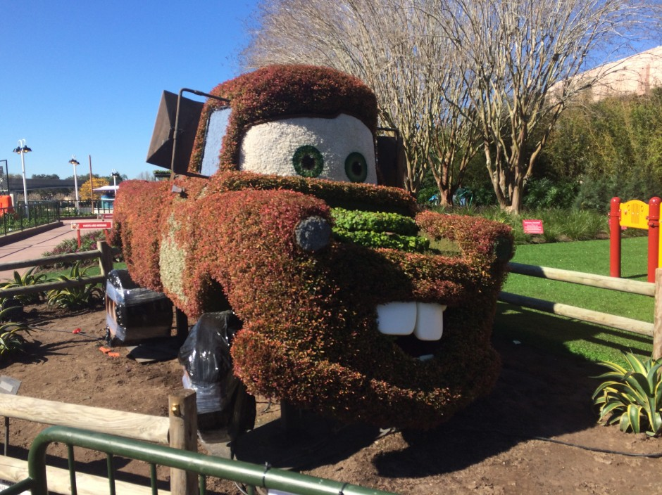 2014 epcot flower and garden festival mater cars topiary