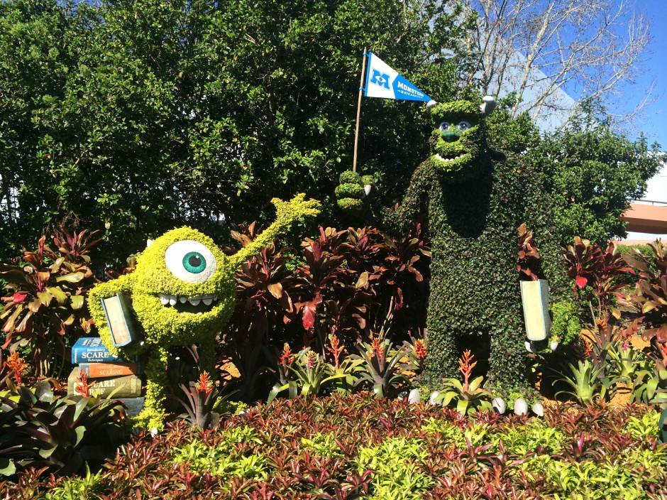 2014 epcot flower and garden festival monsters mike sulley garden