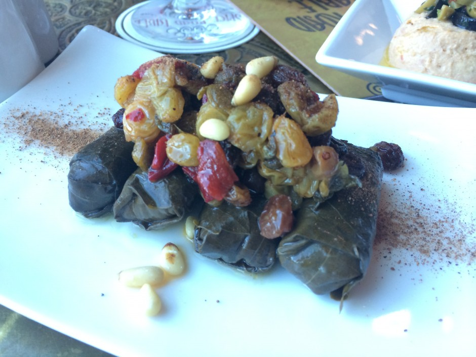 disney epcot morocco spice road table restaurant stuffed grape leaves