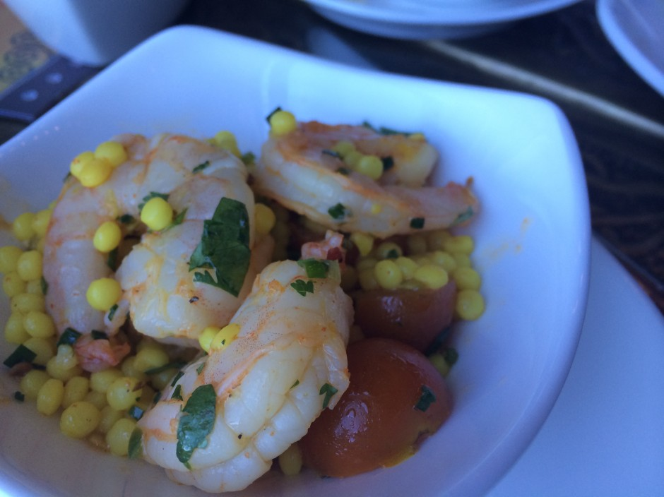 disney epcot morocco spice road table restaurant shrimp salad with cous cous