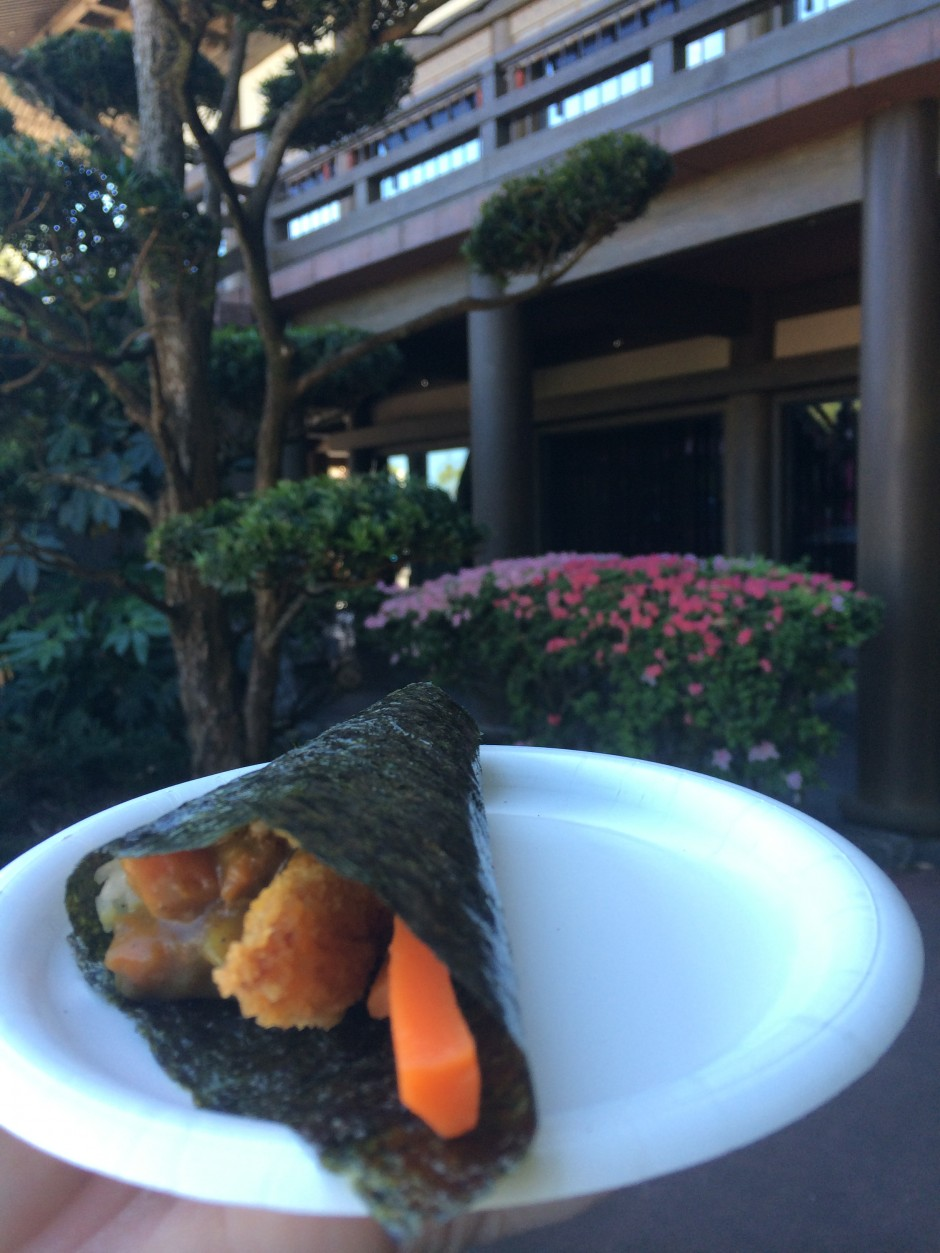 2014 epcot international flower and garden festival outdoor kitchen japan hanami chicken hand roll